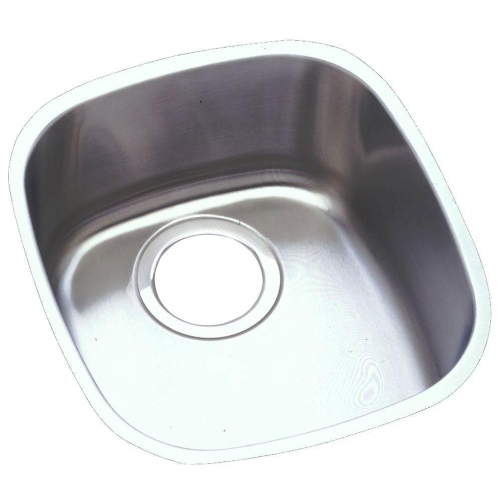 Elkay Lustertone Undermount Stainless Steel 14-1/4x15-3/4x5-15/16 0-Hole Single Bowl Kitchen Sink in Satin 301285