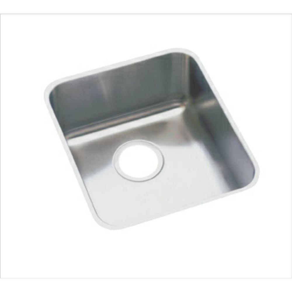 Elkay Lustertone Undermount Stainless Steel 16x18-1/2x7-7/8 inch 0-Hole Single Bowl Kitchen Sink 301289