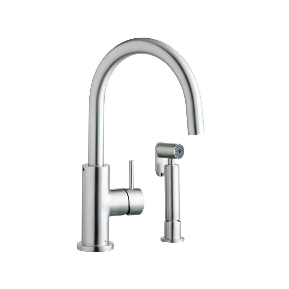 Elkay ALLURE Single Handle Kitchen Faucet Includes Matching Side Spray 467166