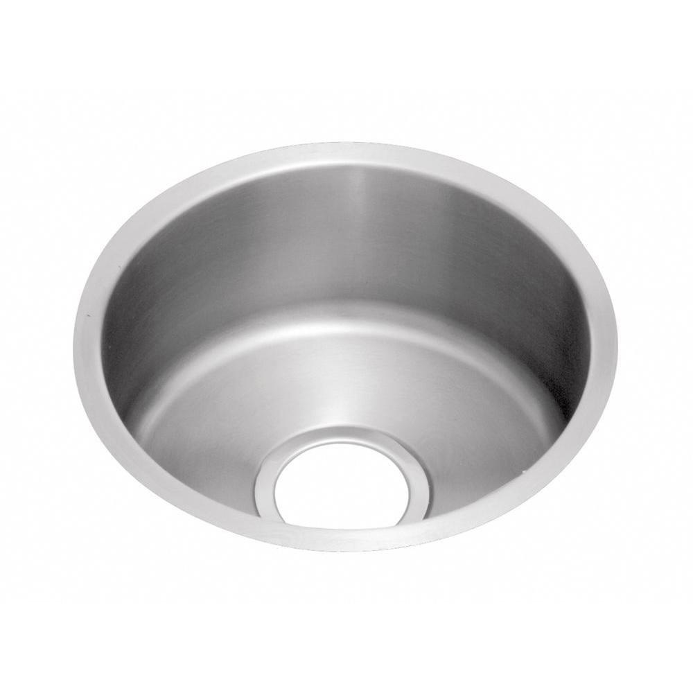 Elkay Mystic Undermount Stainless Steel 18-3/8x18-3/8x8 inch 0-Hole Single Bowl Bar Sink 484373