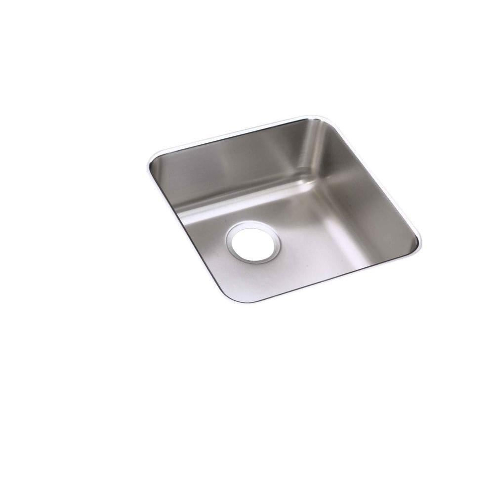 Elkay Lustertone Undermount Stainless Steel 18-1/2x18-1/2x7-7/8 Single Bowl Kitchen Sink 628745