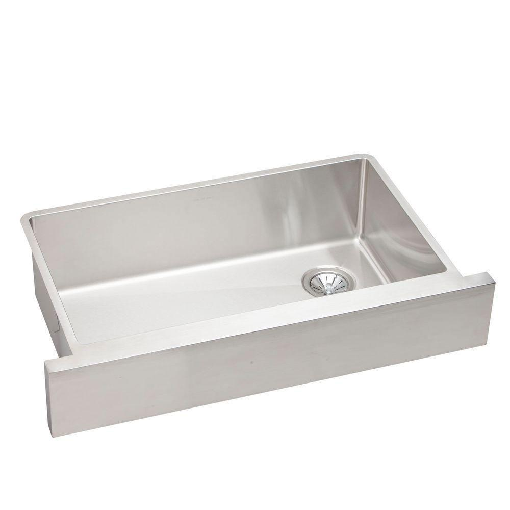 Elkay Crisfield Undermount Acrylic 17 inch Single Bowl Entertainment Sink in Natural 642416