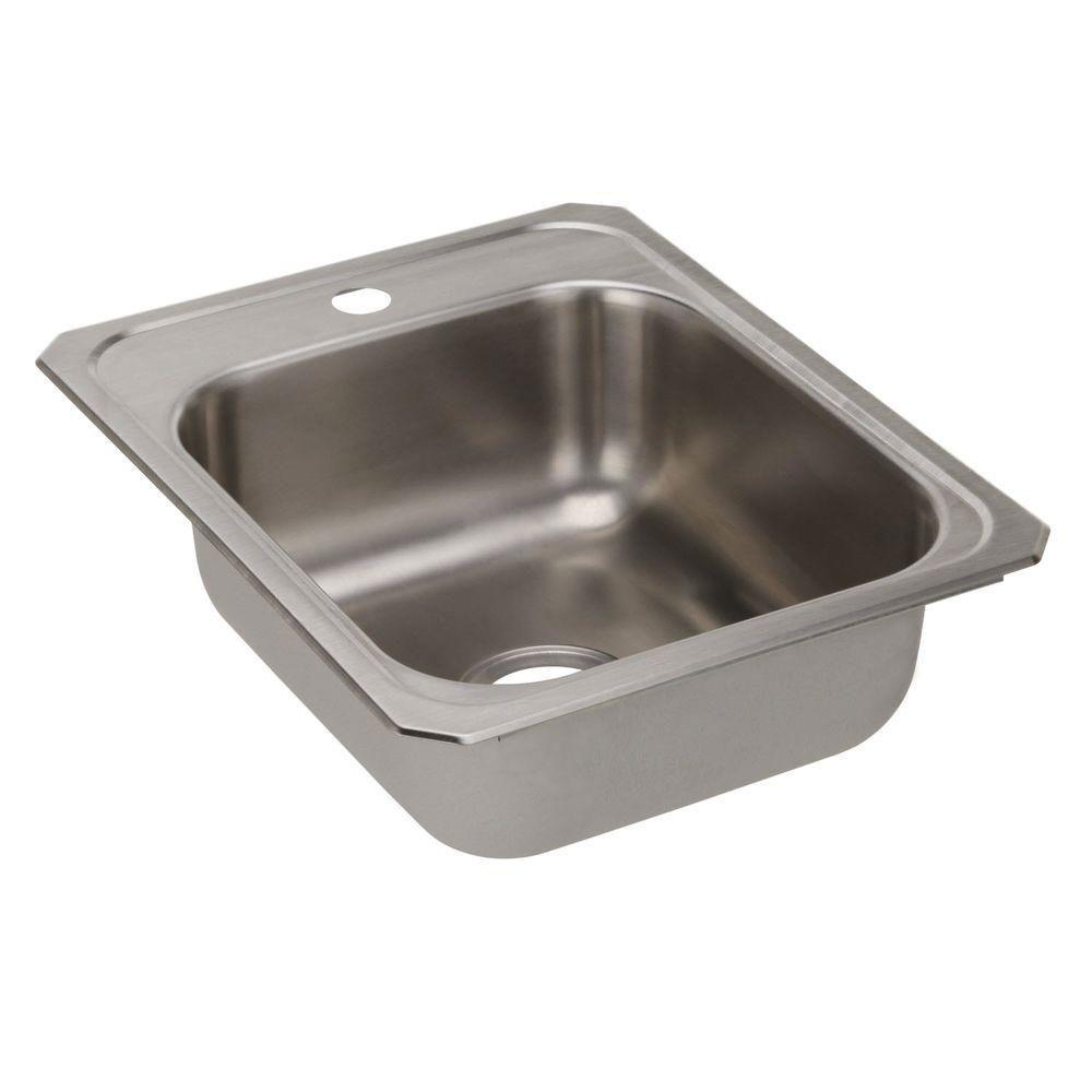 Elkay Celebrity Top-Mount Stainless Steel 17x21-1/4x6-7/8 1-Hole Single Bowl Kitchen Sink 846955
