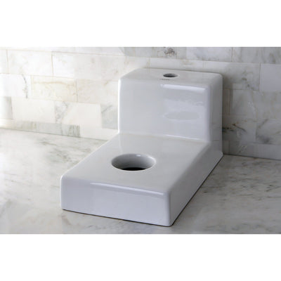 Kingston Castle White China Vessel Bathroom Sink Holder with Faucet Hole EV4100