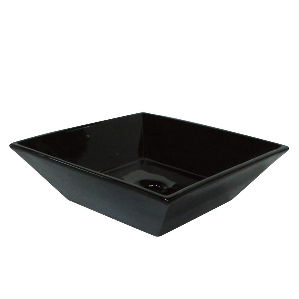 Kingston Brass Black China Vessel Bathroom Sink without Overflow Hole EV4256K
