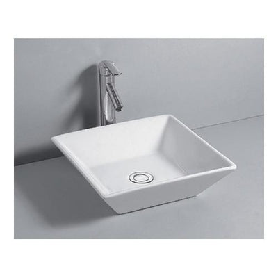 Kingston Parisian White China Vessel Bathroom Sink without Overflow Hole EV4256
