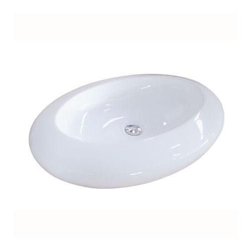 Kingston Parisian White China Vessel Bathroom Sink without Overflow Hole EV4257