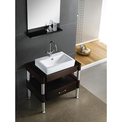 Kingston Brass White China Vessel Bathroom Sink With Overflow Hole EV4318