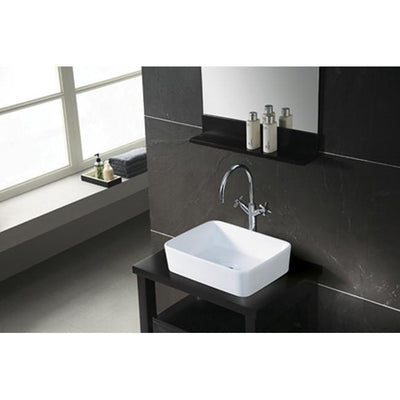 Kingston French White China Vessel Bathroom Sink without Overflow Hole EV5102