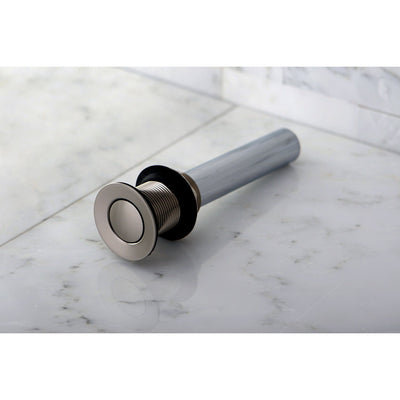 Kingston Brass Concord Satin Nickel Push-up Drain for Vessel Sink EV8008