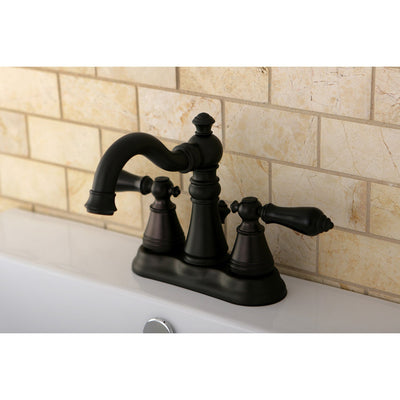 "Kingston Oil Rubbed Bronze 2 Handle 4"" Centerset Bathroom Faucet FS1605ACL"