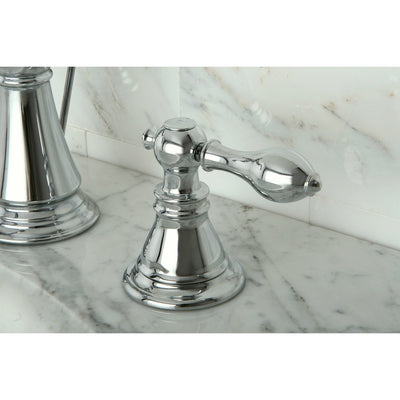 "Kingston Chrome 2 Handle 8"" Widespread Bathroom Faucet with Pop-up FS1971ACL"