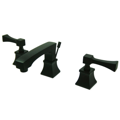 Kingston Oil Rubbed Bronze 2 Handle Widespread Bathroom Faucet w Pop-up FS4465QL
