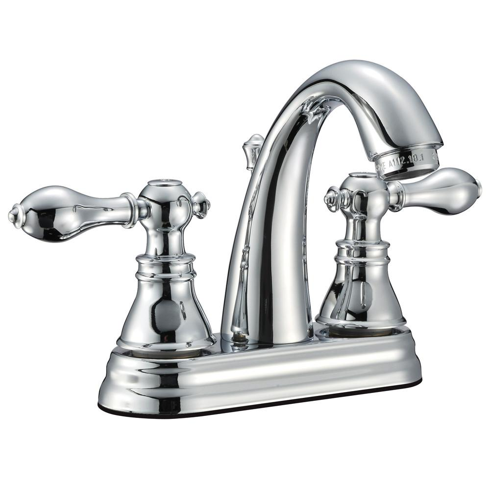 "Kingston Chrome 2 Handle 4"" Centerset Bathroom Faucet with Pop-up FS5611ACL"