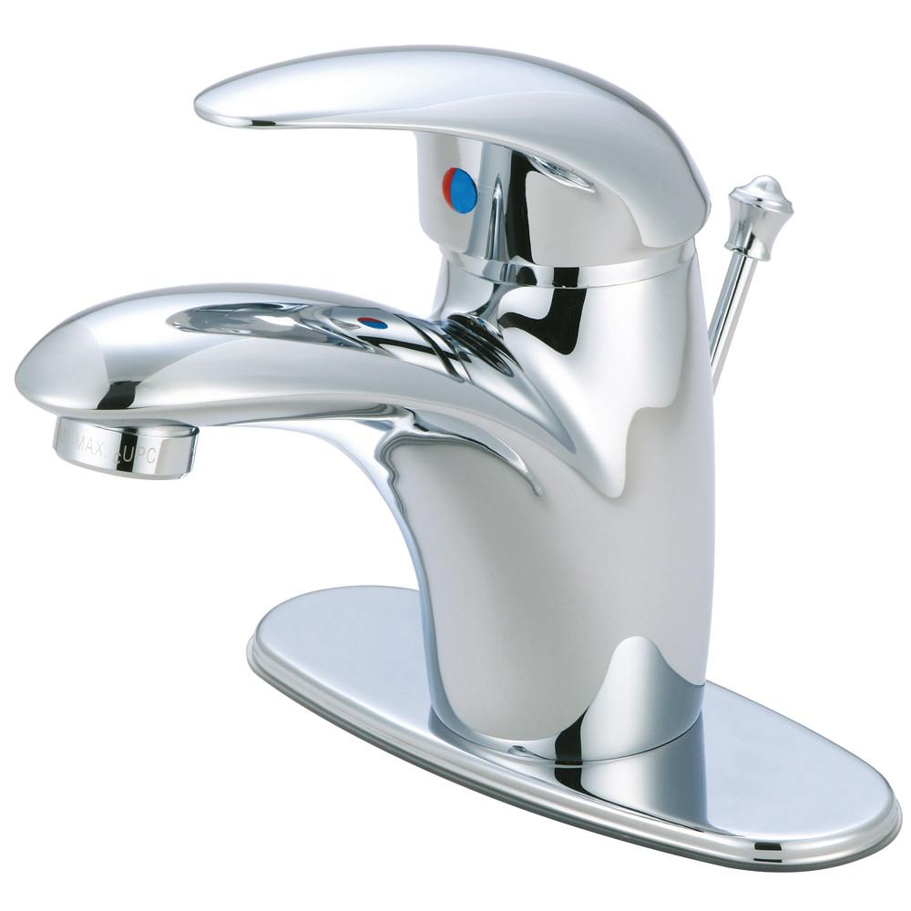 "Kingston Chrome Single Handle 4"" Centerset Bathroom Faucet with Pop-up FS6401WLL"