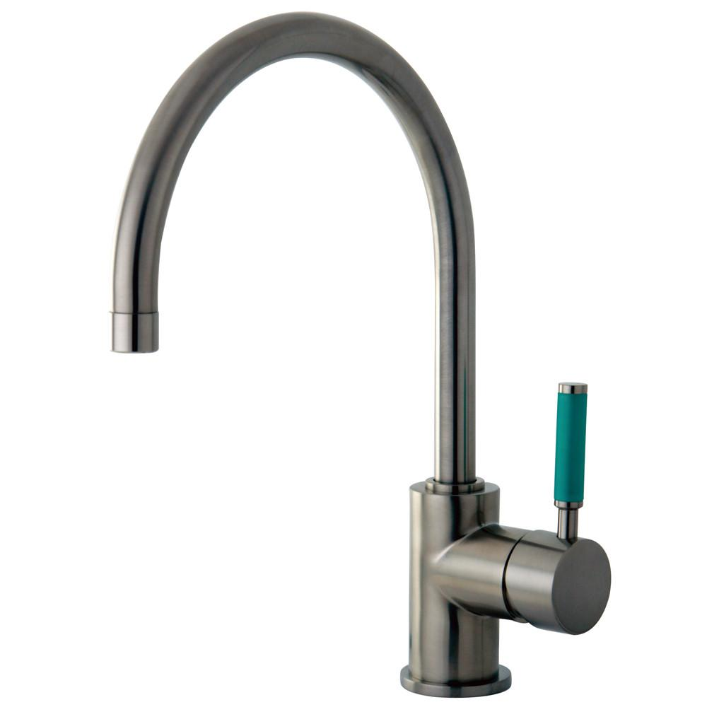 Kingston Green Eden Satin Nickel Single Handle Vessel Sink Faucet FS8238DGL