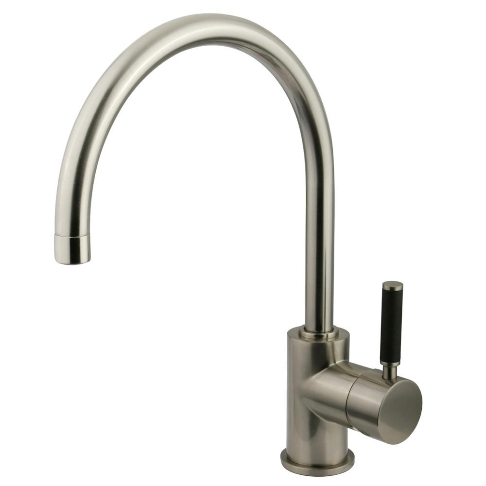 Kingston Kaiser Satin Nickel Single Handle Bathroom Vessel Sink Faucet FS8238DKL