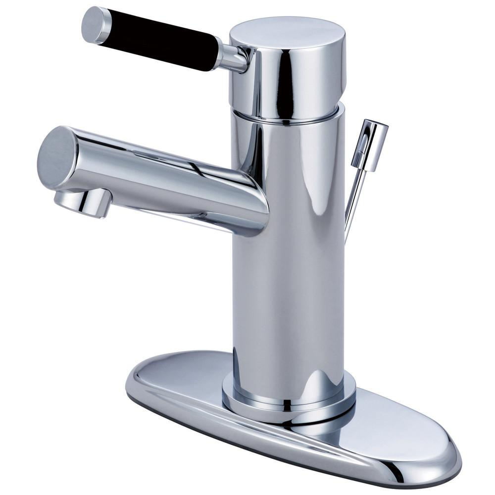 Kingston Kaiser Chrome Single Handle Bathroom Faucet with Cover Plate FS8421DKL