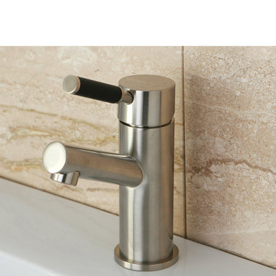 Kingston Kaiser Satin Nickel Single Handle Bathroom Faucet w Plate FS8428DKL