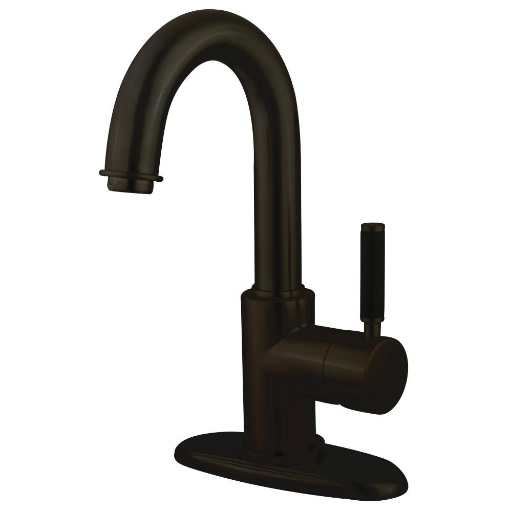Kaiser Oil Rubbed Bronze Single Handle Bathroom Faucet w/Push-up Drain FS8435DKL