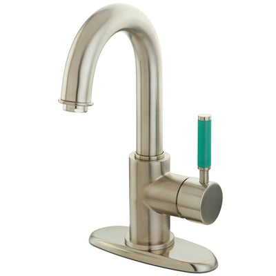 Kingston Green Eden Satin Nickel Single Handle Bathroom Sink Faucet FS8438DGL