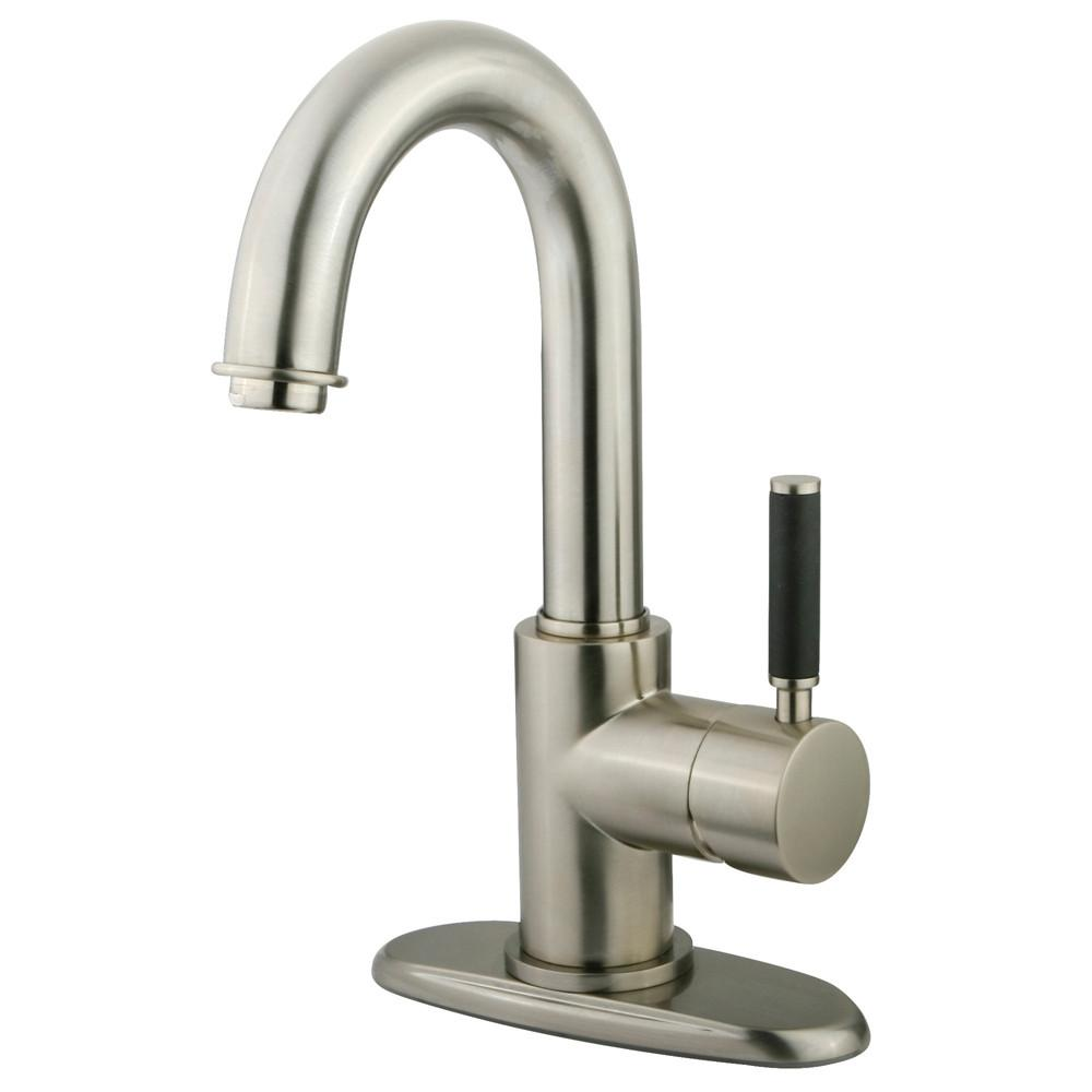 Kingston Kaiser Satin Nickel one Handle Bathroom Faucet w push drain FS8438DKL