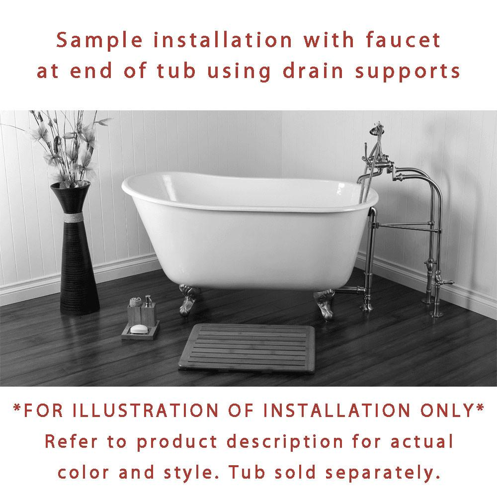 with randolph handles mount english faucets deck clawfoot cross for metal telephone british morris s handshower tub faucet rim