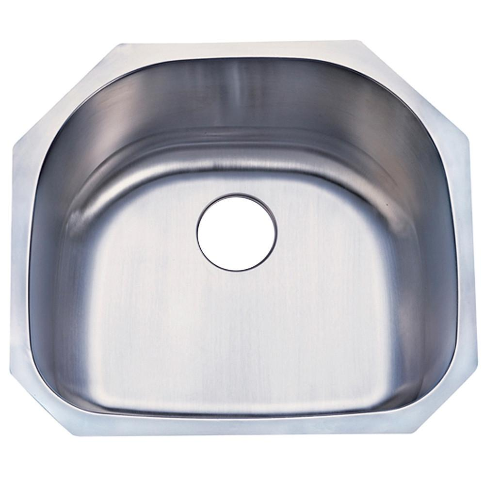 Kingston Brushed Nickel Gourmetier Single Bowl Undermount Kitchen Sink GKUS2321