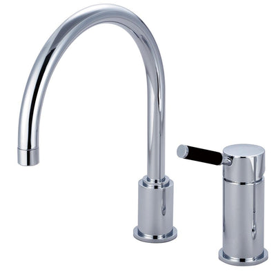 Kingston Kaiser Chrome Widespread Single Lever Handle Kitchen Faucet GS8011DKLLS