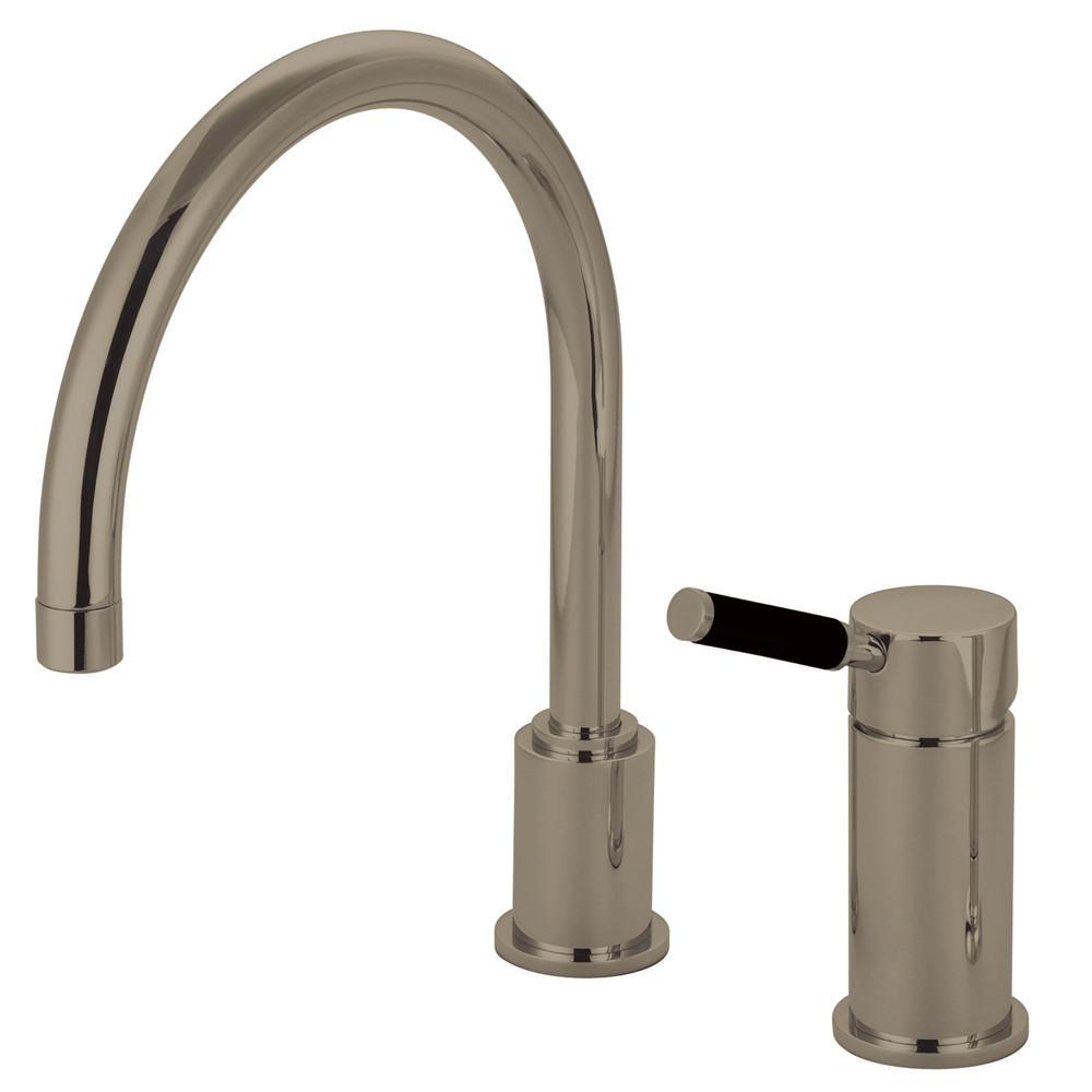 Kingston Kaiser Satin Nickel Widespread Single Handle Kitchen Faucet GS8018DKLLS