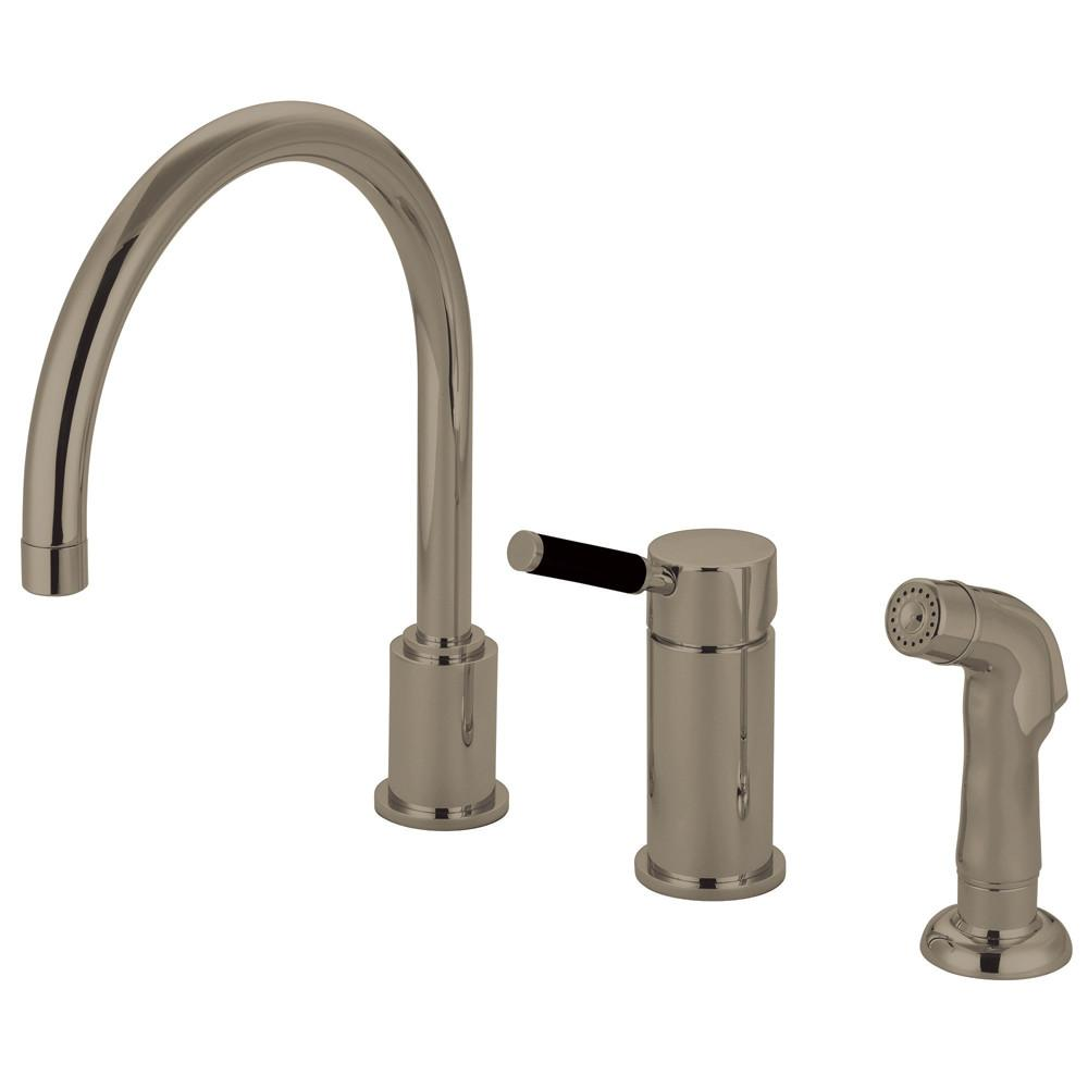 Kaiser Satin Nickel Widespread Single Handle Kitchen Faucet w/spray GS8018DKLSP