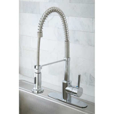Kingston Chrome Single Handle Pre-rinse Commercial style Kitchen Faucet GS8881DL