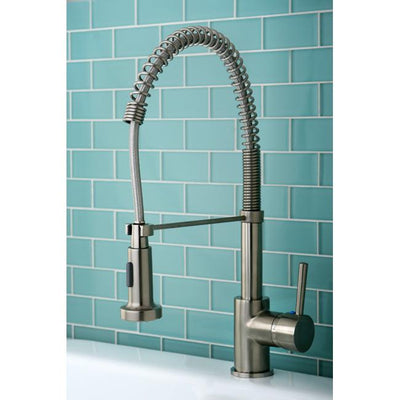 Kingston Brass Satin Nickel Single Handle Pre-rinse Kitchen Faucet GS8888DL