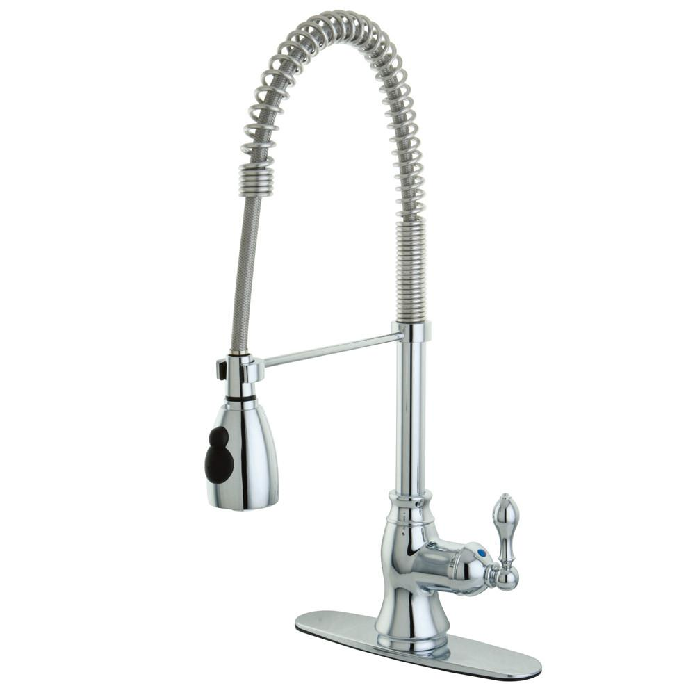 Kingston Brass Chrome Single Handle Pre Rinse Kitchen Faucet