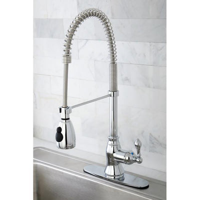 Kingston Brass Chrome Single Handle Pre-rinse Kitchen Faucet GS8891ACL