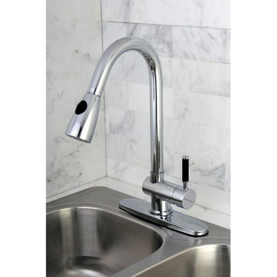 Kaiser Chrome Single Lever Handle Pull Down spray Kitchen Faucet GS8891DKL