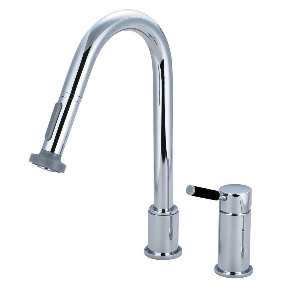 Kingston Kaiser Chrome Single Handle Pull down spray Kitchen Faucet GS8911DKL