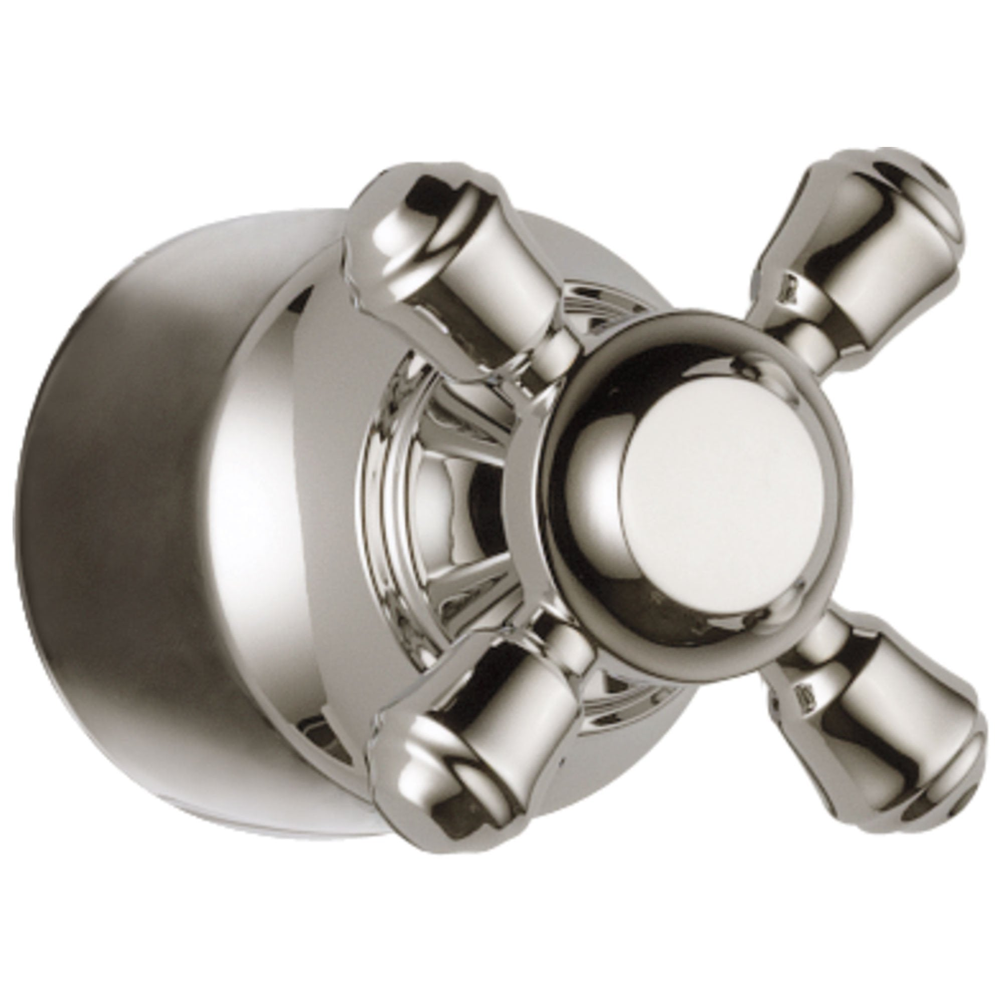 Delta Cassidy Collection Polished Nickel Finish Diverter / Transfer Valve Cross Handle - Quantity 1 Included DH595PN