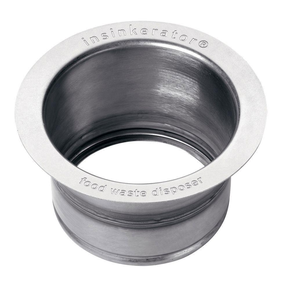 InSinkErator FLG-SSLG Deep Stainless Steel Sink Flange, Polished Stainless Steel 586673