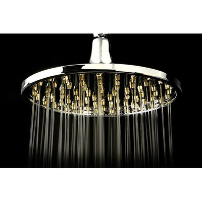 "Chrome with Polished Brass Trim Shower Heads 6"" Best Shower Head K128A4"