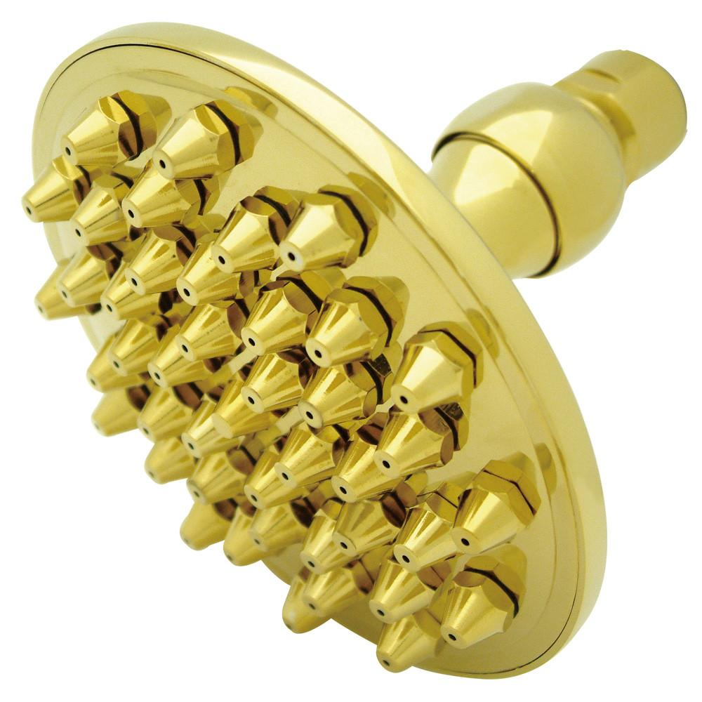 "Kingston Brass 4-7/8"" Polished Brass High Pressure Shower Head"