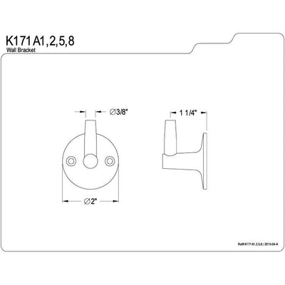 Kingston Brass Bathroom Accessories Polished Brass Pin Wall Bracket K171A2