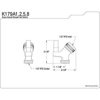 Kingston Bathroom Accessories Satin Nickel Plumbing parts Supply Elbow K179A8
