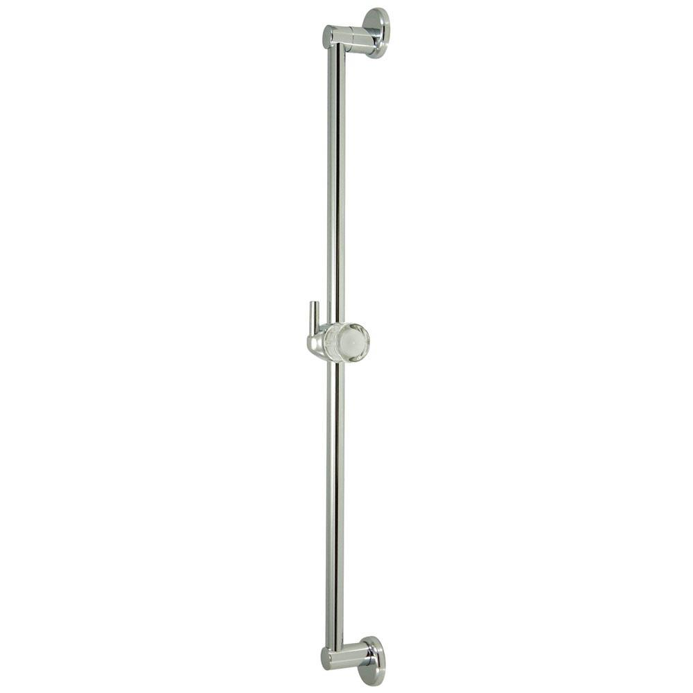 "Kingston Brass Bathroom Accessories Chrome 24"" Brass Slide Bar with Pin K180A1"