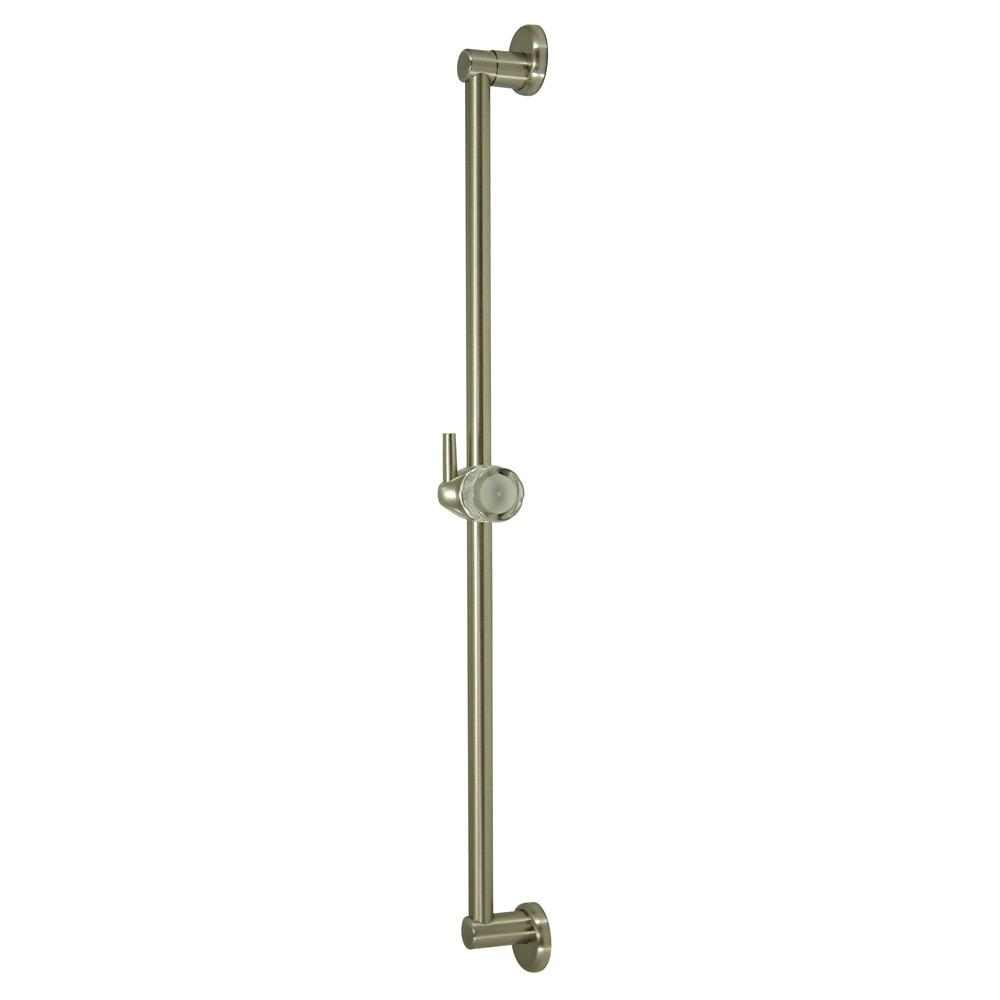 "Kingston Bathroom Accessories Satin Nickel 24"" Brass Slide Bar with Pin K180A8"