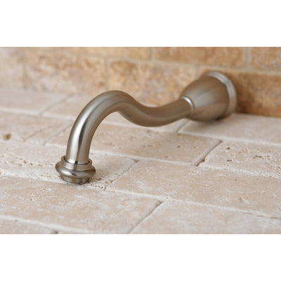 "Kingston Brass Bathroom Accessories Satin Nickel Heritage 8"" Tub Spout K1887A8"