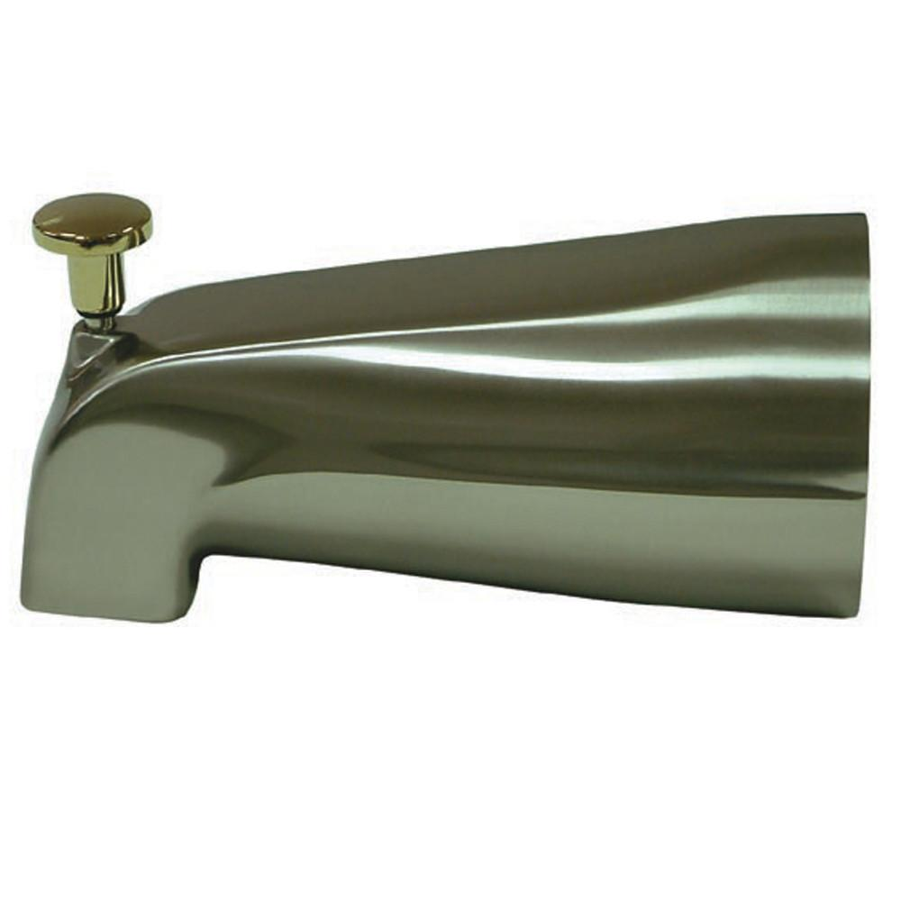 "Kingston Accessory Satin Nickel / Polished Brass 5"" Diverter Tub Spout K188A9"