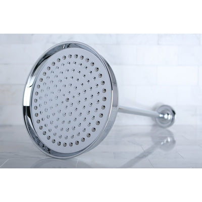 "Chrome Shower Heads Large 10"" Rain drop Shower Head with Shower arm K225K21"
