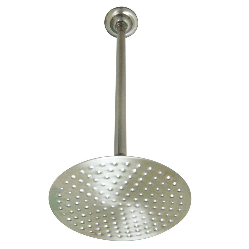 "Satin Nickel Shower Heads Large 8"" Rain drop Shower Head with Shower arm K236K28"