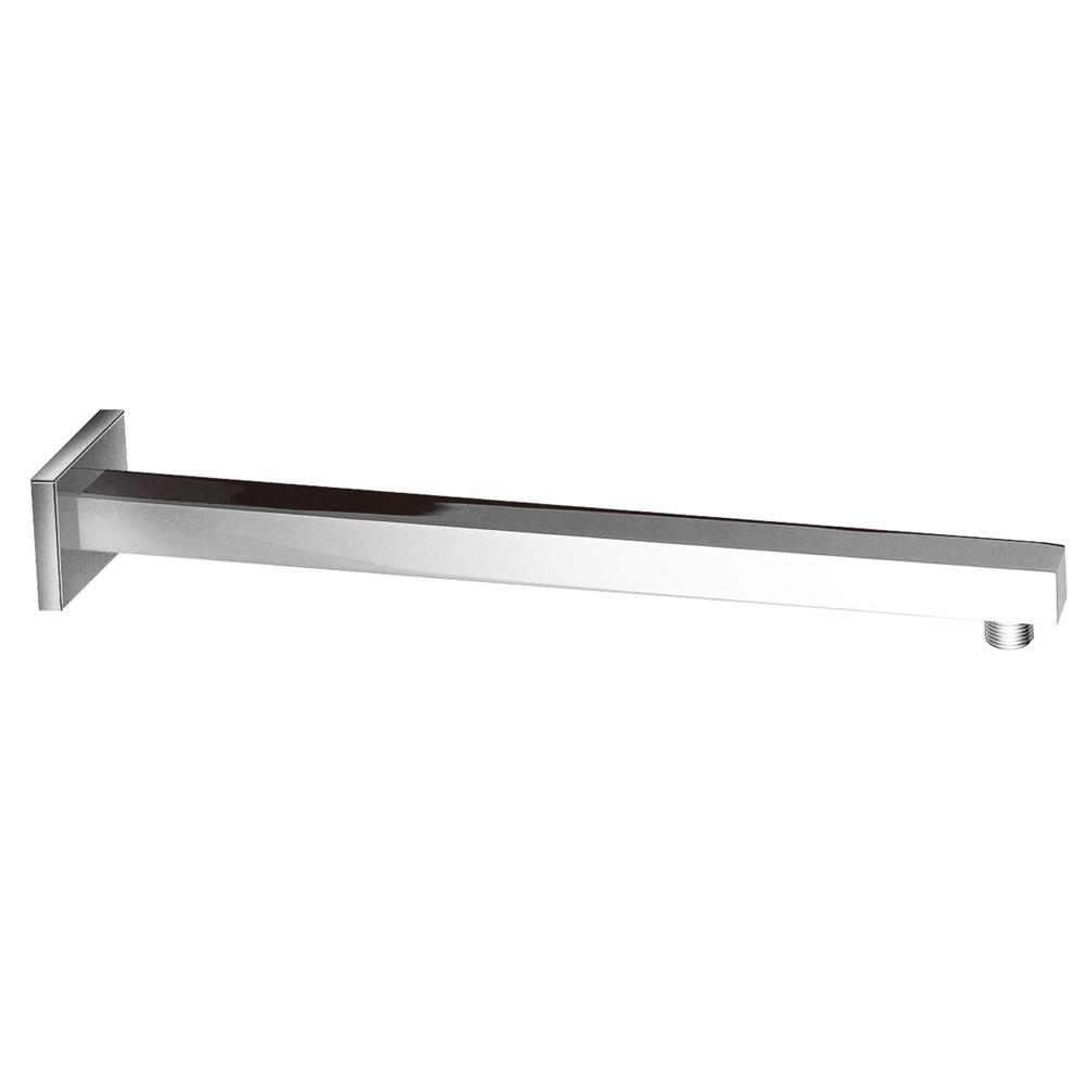 "Kingston Brass Claremont Chrome 15"" Brass Square Tube shower arm K4161"